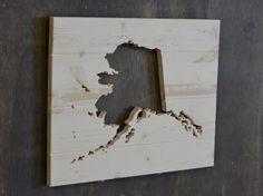 Alaska State Wood Cutout by SkipToothCreations on Etsy