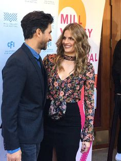 Stana and Raza on the red carpet at the world premiere of The Rendezvous! We are overjoyed to see her!