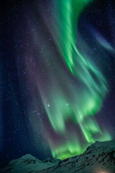 Aurora Borealis, natures own best magic light show. lets go up north sometime soon to spend some time looking up into the night