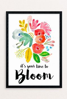 It's Your Time To Bloom - Tap to see more inspirational quotes about change, motivation and better life. @mobile9