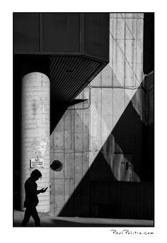 Citizen Silhouette (black and white photograph)