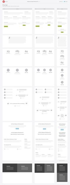 Responsive Website Wireframe Kit – UX Kits. If you like UX, design, or design thinking, check out theuxblog.com