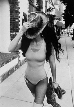 Cher on her way to a Disco 1970s