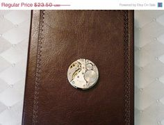 Sale 25 Off Steampunk Brown Leather Book by Treasurebay on Etsy, $17.63