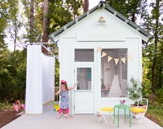 An Amazing Kids' Playhouse Built from an Old Backyard Shed