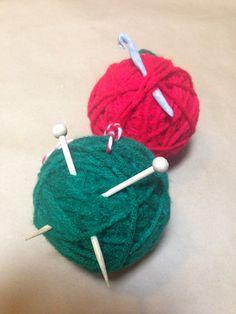 Yarn Ball Ornaments ~ DIY