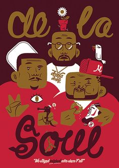 De La Soul Poster by LeighPearce on Etsy, £40.00