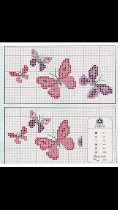 Unicorn Cross Stitch Pattern, Butterfly Cross Stitch, Cross Stitch Flowers, Cross Stitch Charts, Cross Stitch Designs, Cross Stitch Patterns, Cross Stitching, Cross Stitch Embroidery, Baby Room Themes