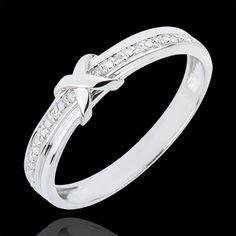 Alliance Signe D'Amour - or blanc diamant : bijoux Edenly 320 euros