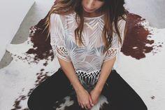"❘ ❙ ❚ Western Fringe ❚ ❙ ❘ lacey & fringey details today. ""She is Fierce"" necklace by Nashelle. #nashelle #fashionfeedinghunger #peace #westernstyle #fringe #boho #bohemian #gyspy #style #fahion #blogger #handmade #gold #outfit #details #whatiwore #accessories #fierce #customizednecklace"