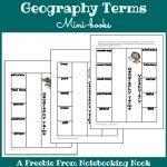 Freebie: Geography Terms Mini-books