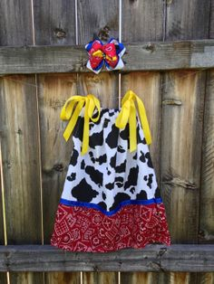 Cass i want lette to wear this to the shower with cowgirl boots and hat   Jessie inspired Toy Story Pillowcase  Dress by TheNapSack on Etsy, $20.00