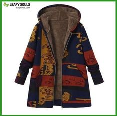 Manteau Femme Hiver Fashion Women Plus Size Winter Coat Hooded Open Front Thick Warm Parka Jacket Outerwear Overcoat - Blue - Plus Size Winter Jackets, Winter Jackets Women, Coats For Women, Estilo Indie, Winter Fashion Casual, Winter Outfits, Autumn Fashion, Outerwear Women, Outerwear Jackets