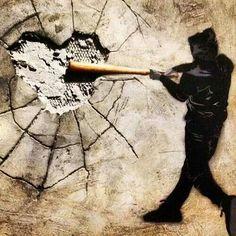 Banksy - break our hearts everyone breaks hearts hearts aren't shatter proof @streetart.nl | FollowPics