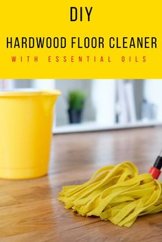 DIY Hardwood Floor Cleaner with Essential Oils via @wendypolisi