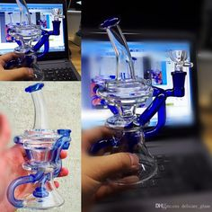 2016 Real Images Blue Glass Bongs Water Pipes Joint 14.4mm Best Circulation Dab Recycler Oil Rigs Glass Bong With Perc Percolator Cheap Hookahs From Delicate_glass, $30.16 | Dhgate.Com
