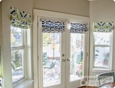 This tutorial will help you make Roman Shades for French Doors. They are real Roman Shades,...