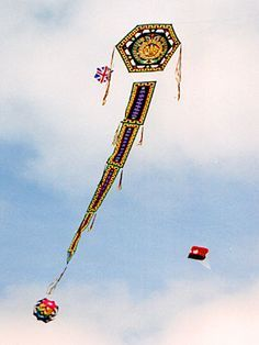 traditional Chinese dragon kite with long flowing tail