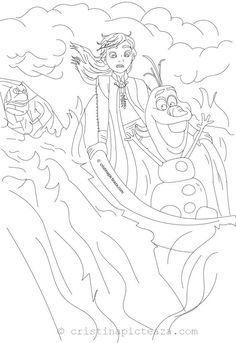 Frozen 2 Coloring Pages - Elsa, Anna, Olaf and Hans coloring pages from the new animation movie Frozen Also, meet the lovely Bruni salamander. Frozen Coloring Sheets, Snow White Coloring Pages, Unique Coloring Pages, Coloring Sheets For Kids, Coloring Pages For Girls, Coloring Books, Kids Coloring, How To Draw Elsa, New Animation Movies