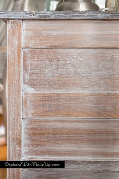 Wonderful Tutorial From Orphans With Makeup On How To Whitewash Furniture Painted