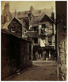 'Timber Fronted House, Cowgate', Edinburgh c. 1858