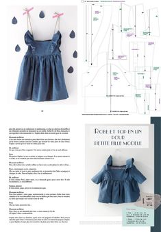 Pattern - Patron de la robe & top de petite fille modèle, Créations DIY avec les malheurs de Sophie