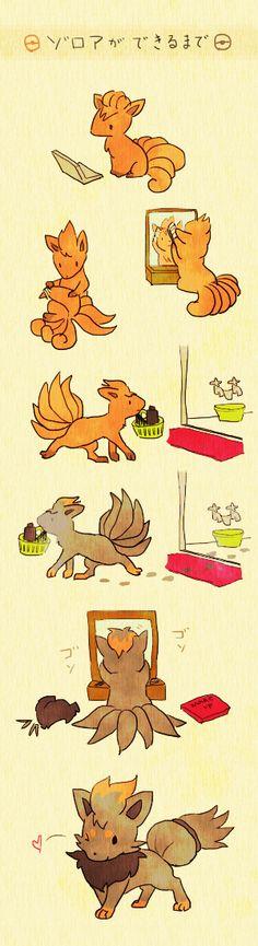 Pokemon - Vulpix/Zorua?