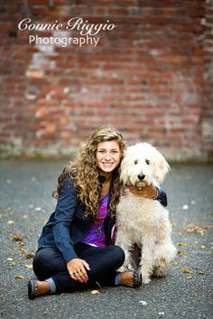senior picture ideas for girls with their dog | They are also bringing their siblings too, which is great! I love this ...