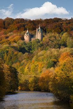Castell Coch, Wales by welshio, via Flickr you may pass this on the M4 on your way to Cwmcrwth Farm. True Fairytale castle