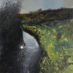 Infant Tamar Evening Warbler Song, Kurt Jackson, 2008 Oil & acrylic on canvas, 91.5 x 91.5 cm, Plymouth City Council: Museum and Art Gallery