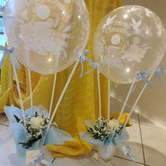 DERO BOMBONIERE MONTEPULCIANO STAZIONE  centrotavola mongolfiera  con fiori e palloncini