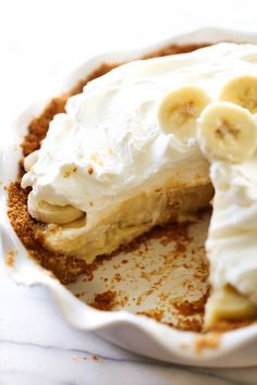 This Best Ever Banana Cream Pie is truly INCREDIBLE! It has a homemade graham cracker crust, delicious banana cream filling and topped with whipped cream. It is perfect for any occasion! You guys. This pie is insanely delicious. I am not normally a pie person but this one has quickly soared to one of my …