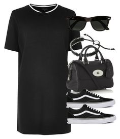 """Sin título #12618"" by vany-alvarado ❤ liked on Polyvore featuring River Island, Links of London, Mulberry, Vans and Ray-Ban"