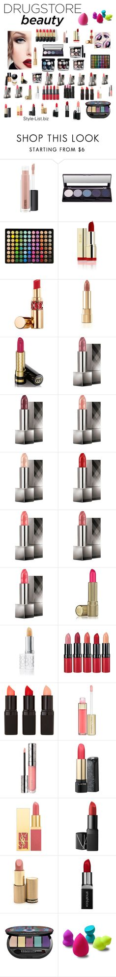 """Drugstore Beauty"" by dalexa-terra ❤ liked on Polyvore featuring beauty, MAC Cosmetics, L'Oréal Paris, Chanel, BHCosmetics, Yves Saint Laurent, Dolce&Gabbana, Gucci, Burberry and Estée Lauder"