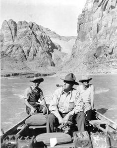 Art Greene was a visionary and a pioneer in the very early years of tourism in Arizona and Utah. In 1943 Greene started a river running business on the beautiful Colorado River taking adventurers from Lee's Ferry up to the magnificent, sacred Navajo Rainbow Bridge. Courtesy of The Greene Family Collection   http://www.lakepowellviewestates.com/