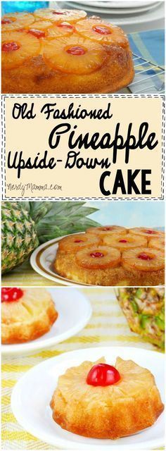 recipe for Old Fashioned Pineapple Upside-Down Cake sounds so yummy--and so easy.This recipe for Old Fashioned Pineapple Upside-Down Cake sounds so yummy--and so easy. Köstliche Desserts, Delicious Desserts, Yummy Food, Yummy Yummy, Pinapple Cake, Baking Recipes, Cake Recipes, Baking Dishes, Sweet Recipes