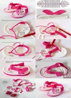 """Baby heart sandal """"Crochet Pattern"""""""
