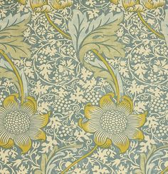 See Blue Floral by William Morris Archive Print | Kennet Linen Union