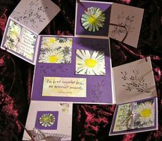 I have frequently been asked for information on how to make the Four Fold Card I posted, on July 10th this year, so I am showing how to mak...