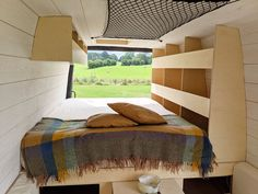 Out of Order Design — OOOD Van Campervan Bed, Campervan Interior, White Washed Pine, Toyota Van, Kombi Motorhome, Mercedes Sprinter Camper, Van Conversion Interior, Camper Conversion, Bus Living