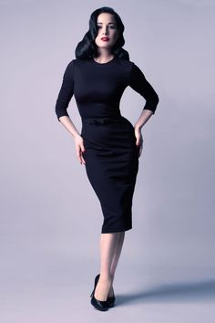 Everyday outfit for leaving the house / Second Look Dress by Dita von Teese (with inner grosgrain waistband!)