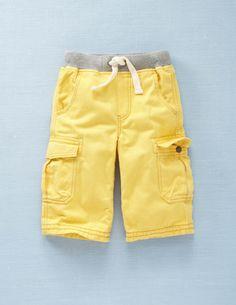 Rib Waist Cargo Shorts
