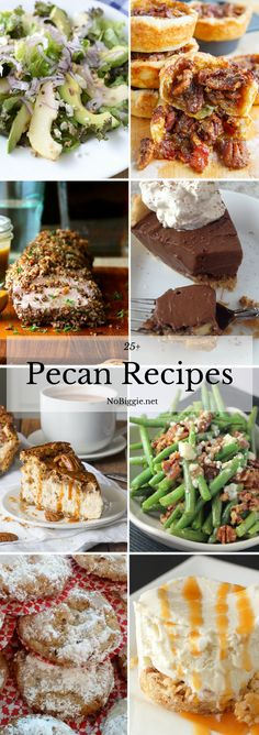 Pecans just scream fall time to me. To help you get a jump on your tasty fall dishes here are pecan recipes that you'll want to use all year long. Pecan Recipes, Apple Recipes, Fall Recipes, Sweet Recipes, Holiday Recipes, Cooking Recipes, Holiday Foods, Yummy Recipes, Just Desserts