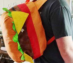 This burger has got your back. - http://noveltystreet.com/item/14621/