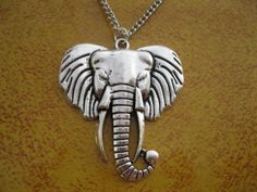 Necklaceantique silver elephant necklacealloy necklace by JUSTYES, $5.99