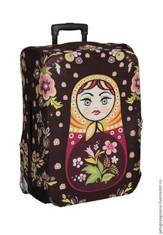 """Luggage cover """"Matrioshka"""" – shop online on Livemaster with shipping"""