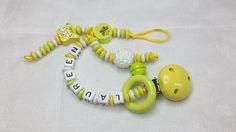 Schnullerkette Nuckikette Nuggikette mit Wunschname von myduttel
