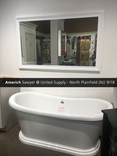 Featuring The Sawyer Freestanding Bathtub In White At The United Supply  Showroom In North Plainfield, NJ!