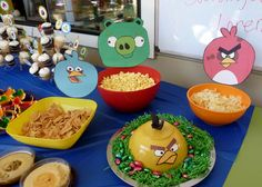 angry birds decorated bowls