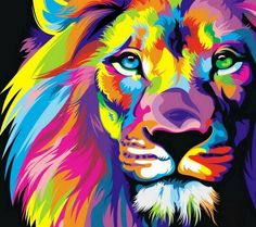 Multi-Colored lion
